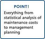 POINT!Everything from statistical analysis of maintenance costs to management planning